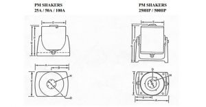 PM-Shaker Dimensions
