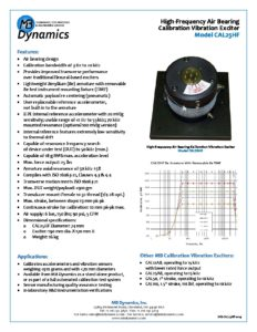 CAL25HF High-Frequency Air Bearing Calibration Vibration